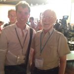 Charles with J Michael Bishop, 1989 winner of Nobel Prize in Physiology/Medicine